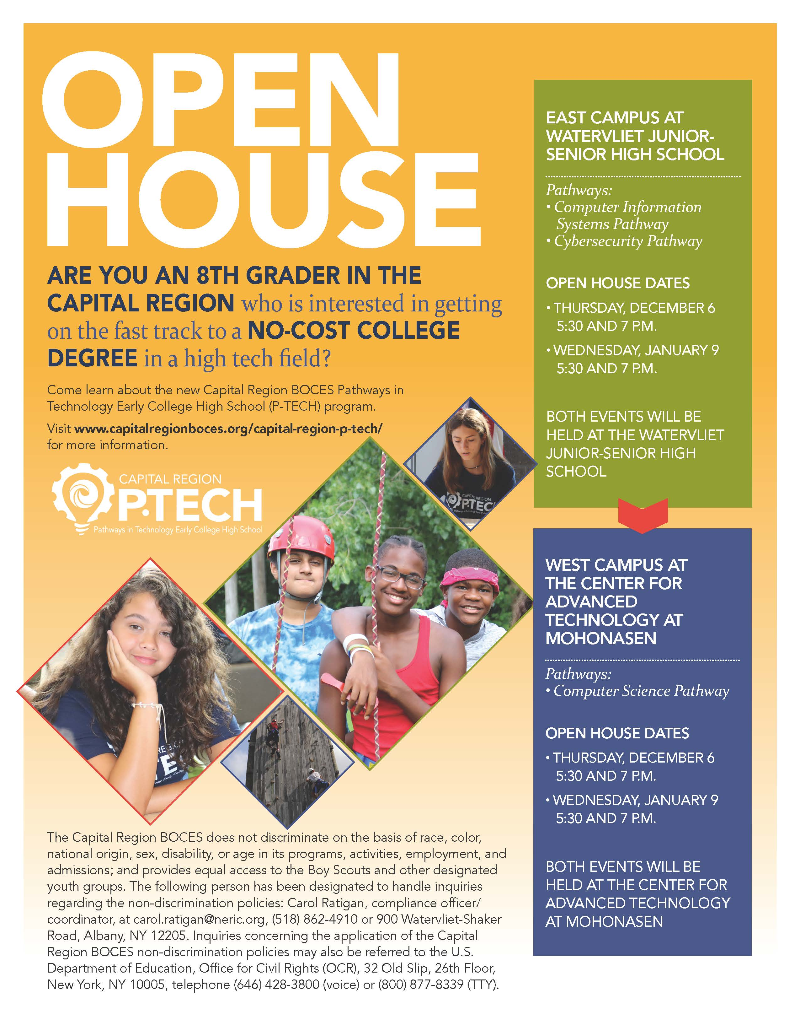 Capital Region BOCES to Host Open House for Pathways in