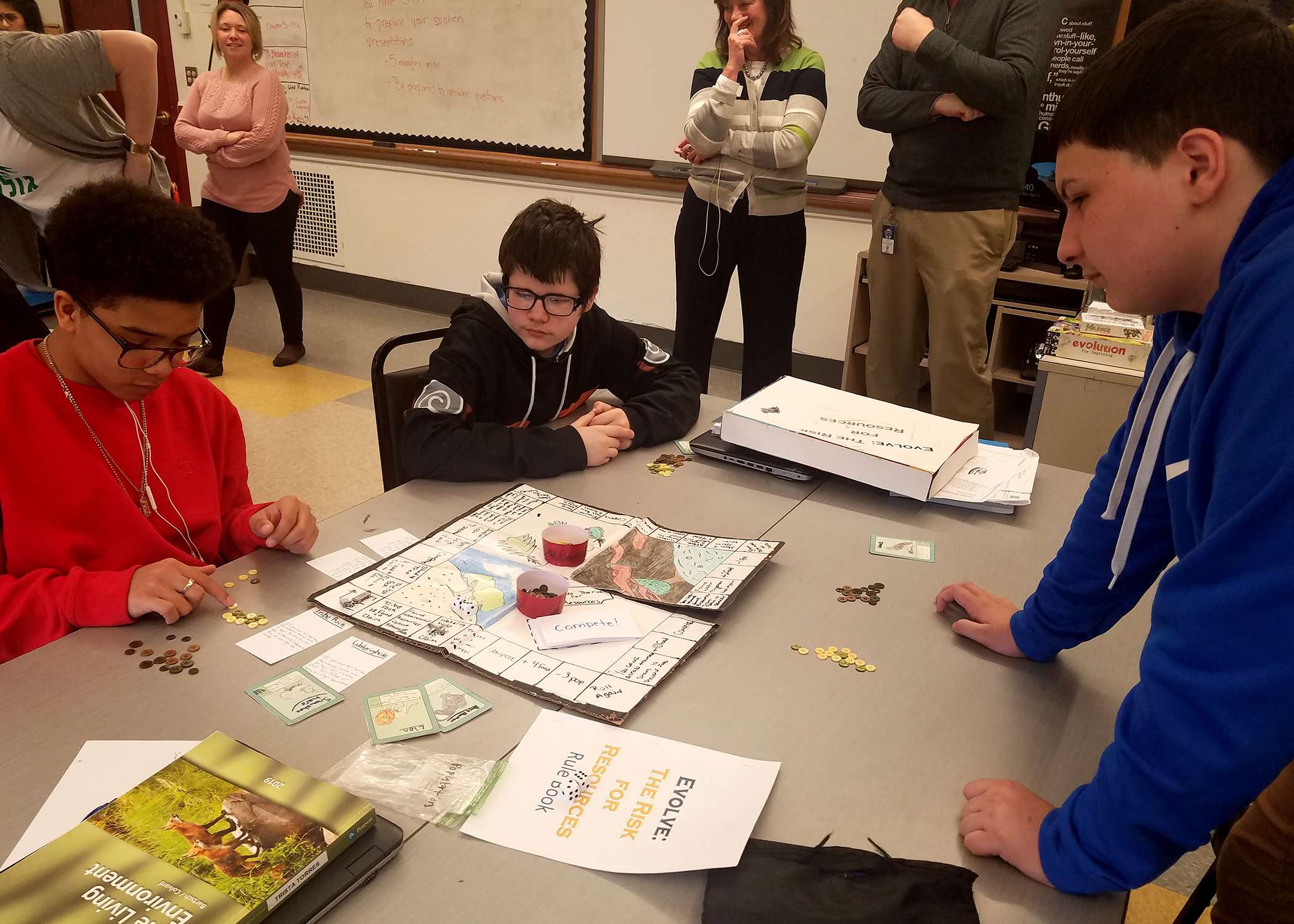 Game On! P-TECH Students Design Board Games Based on