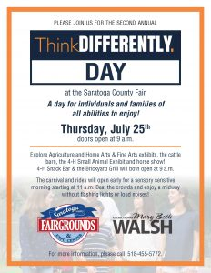 ThinkDifferently Day Flyer with date and activities