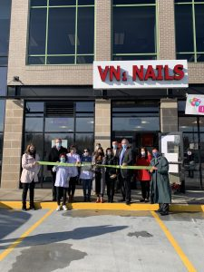 VN1 Nails cuts ribbon to celebrate grand opening at Mohawk Harbor