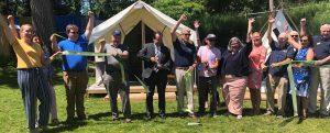 Camp Rockaway ribbon cutting